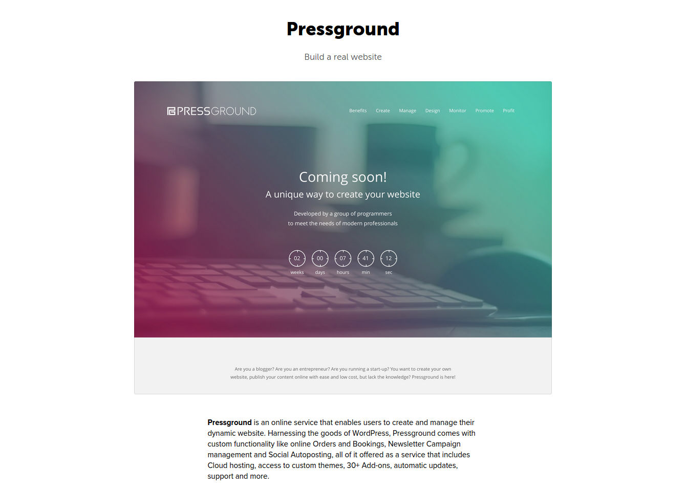 pressground on betalist